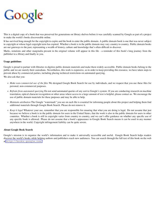 M.D. F.R .C.P. Wilson Fox - The Artifical Production of Tubercle in the Lower Animals