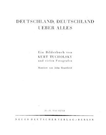 Deutschland, Deutschland über alles by Kurt Tucholsky