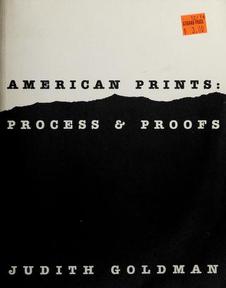 Cover of: American prints | Judith Goldman