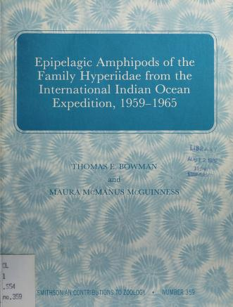 Cover of: Epipelagic Amphipods of the family Hyperiidae from the International Indian Ocean Expedition, 1959-1965 | Thomas E. Bowman