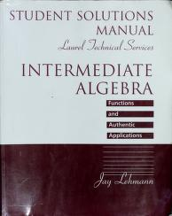 Cover of: Intermediate Algebra | Jay Lehmann