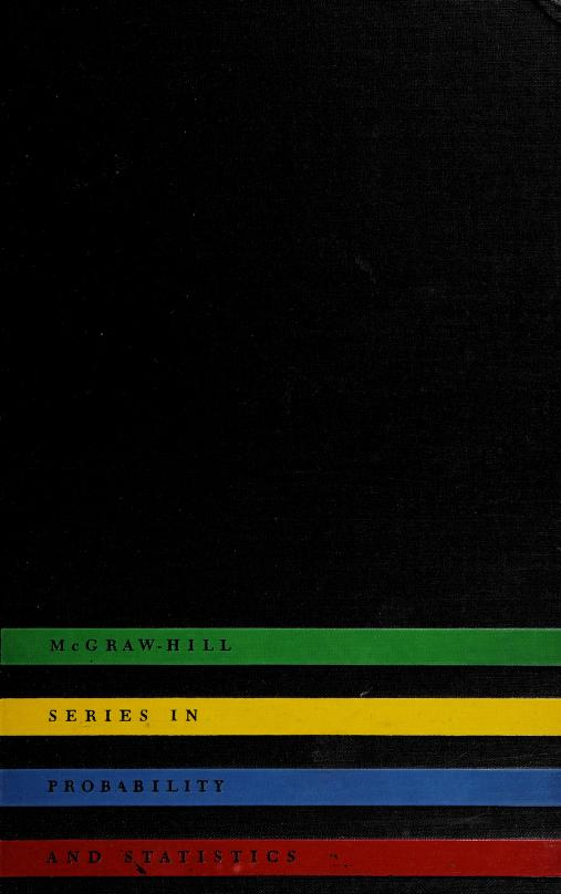 Introduction to probability and random variables by George P. Wadsworth