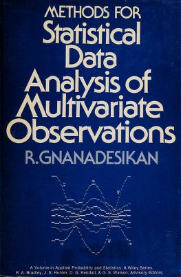 Cover of: Methods for statistical data analysis of multivariate observations | R. Gnanadesikan