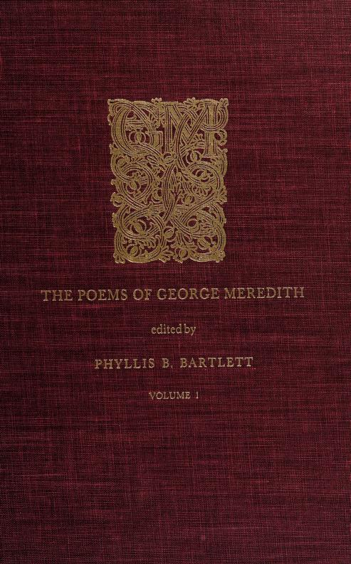 The poems of George Meredith by George Meredith