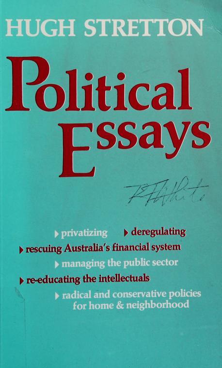 Political essays by Hugh Stretton